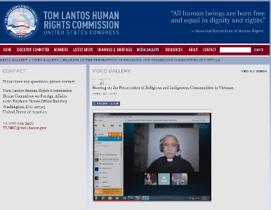 Father Phan Van Loi at hearing