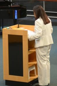 Janet Nguyen phat bieu