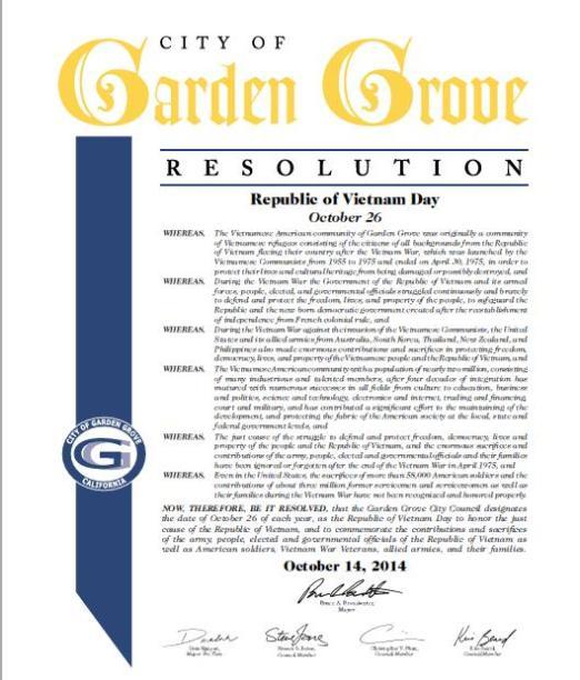 GG_Republic of Vietnam Day Resolution