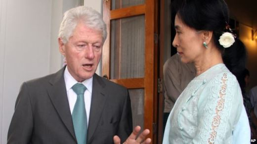 bill clinton-san suu kyi